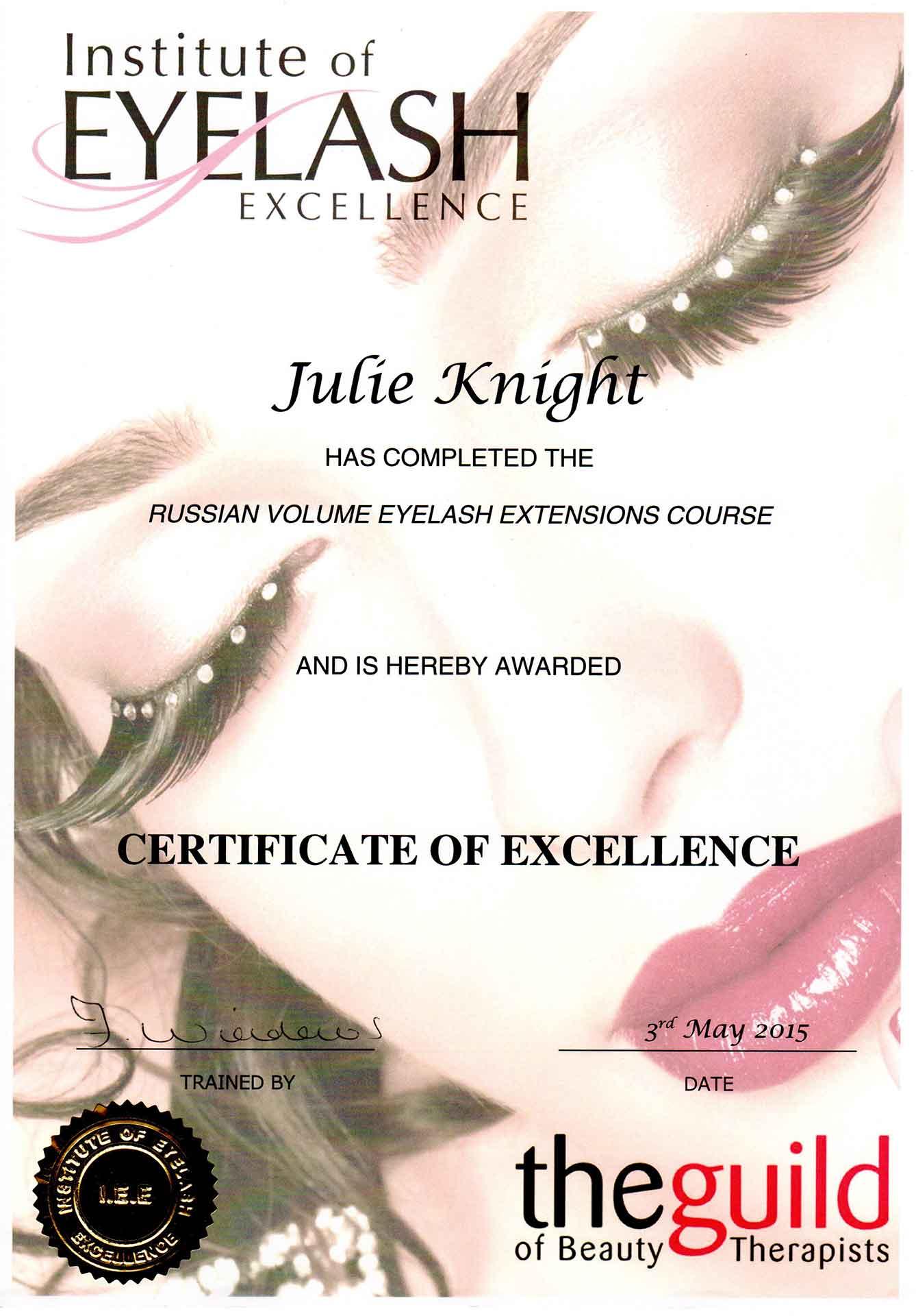Julie-Knight-Eyelash-Excellence-Volume-Certificate