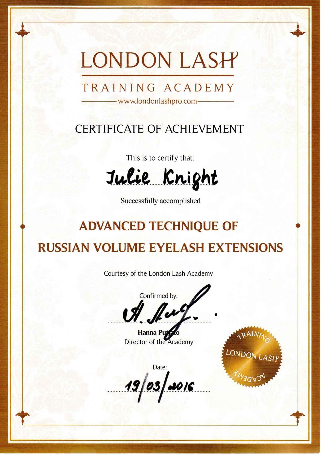 Julie-Knight-London-Lash-Advanced-Volume-Certificate