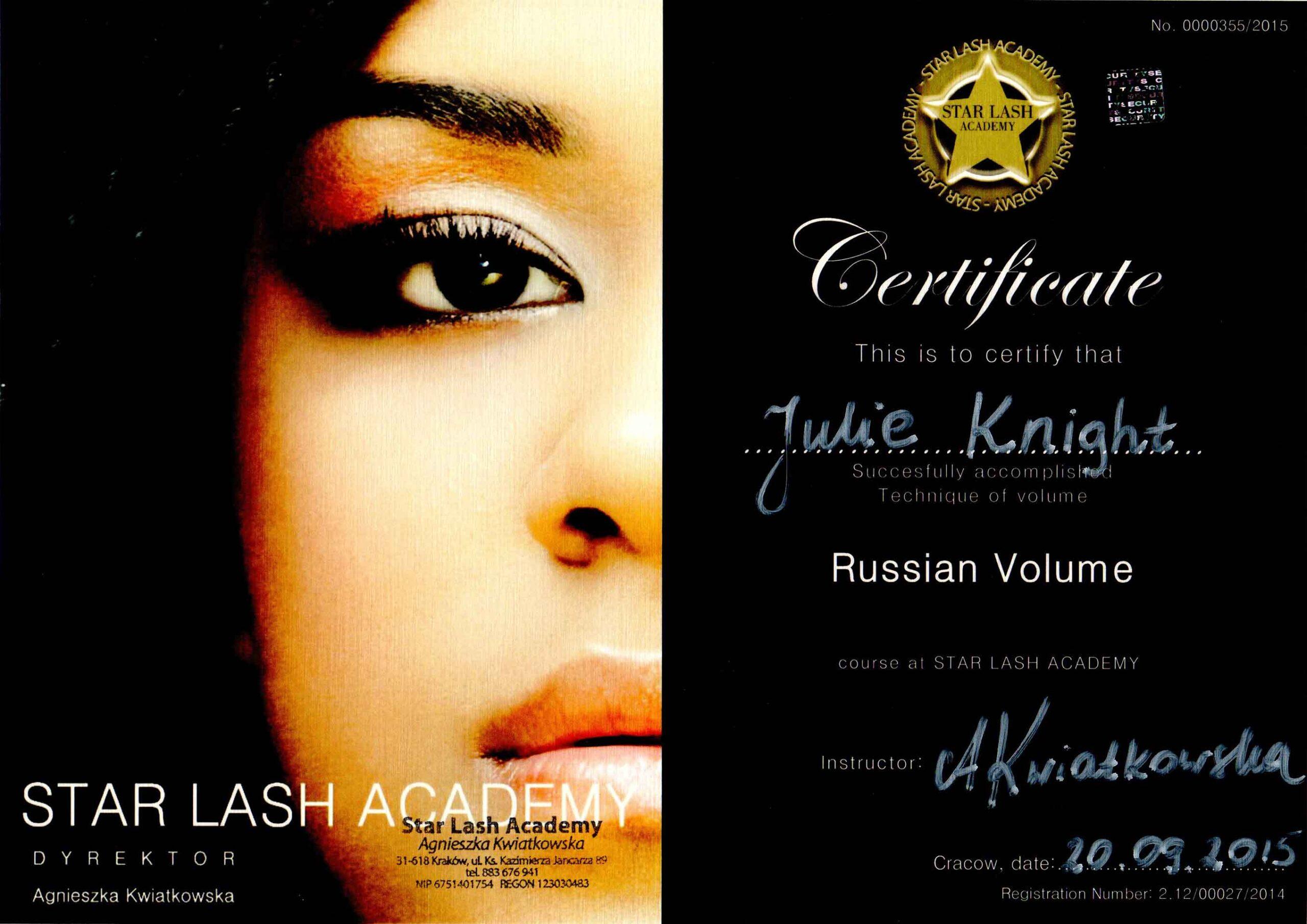 Julie-Knight-Star-Academy-Volume-Certificate